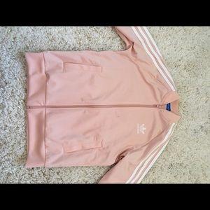 Light pink adidas track jacket